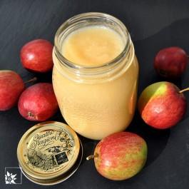 """Anwendungsbeispiel: das Einweckglas """"Quattro Stagioni"""" 1000 ml bei uns zuhaus mit Apfelmus. (Lieferung immer ohne Inhalt!)"""