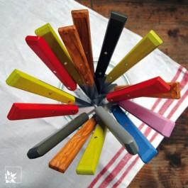 Opinel Esprit - Brotzeitmesser in bunten Farben von Opinel. (Lieferung ohne Dekoration - Beispielfoto für Farben)
