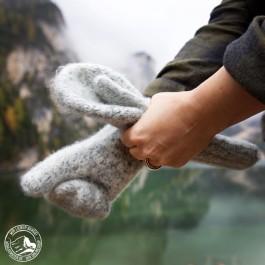 Damen-Fäustlinge aus warmer Bergschafwolle.