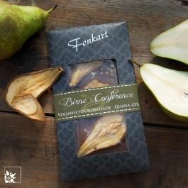 Fenkart Schokolade Birne Conference. Lieferung ohne Dekoration.