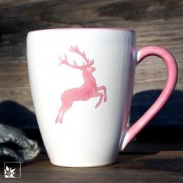 Gmundner Keramik | Kaffeebecher Rosa Hirsch