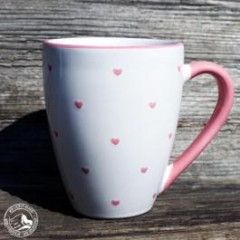 "Gmundner Keramik Kaffeebecher ""Herzerl"" o,3 l."