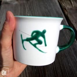 Gmundner Keramik - Kaffee-Haferl  Toni Grün - Lieblingstassentauglich!