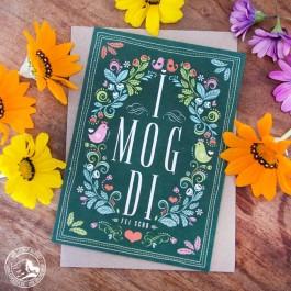 I mog Di - Die bayrische Art zu sagen, dass man sich lieb hat. Karte auf Bierfilz gedruckt mit Umschlag DIN A 5 ohne Dekoration!