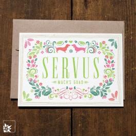 Bayrische Grusskarte Servus