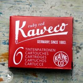 Kaweco Tintenpatronen Rubinrot - 6 Stück / Packung