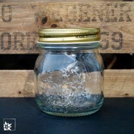 """Das Marmeladenglas """"Quattro Stagioni"""" mit Schraubdeckel. Volumen 250 ml."""