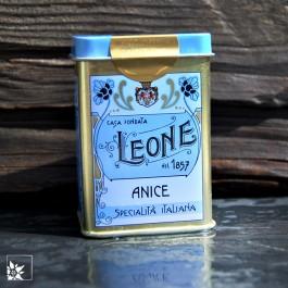 Metalldose Pastiglie Leone Anis. Die köstlichen glutenfreien Lutschpastillen aus dem Piemont!