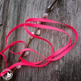 Neonfarbenes Rips-Geschenkband in Pink aus der Schweiz