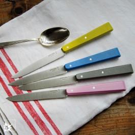 Opinel Brotzeitmesser Esprit Campagne in Pastell-Tönen. (Dekoration , Löffel und Tuch, sind nicht Teil der Lieferung!)