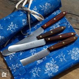 OTTER Streichmesser Palisanderholz. Lieferung als Einzelmesser. Die Stofftasche ist NICHT Teil der Lieferung!