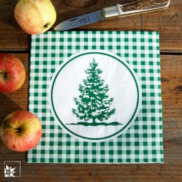Eine schöne Papierserviette für die Weihnachtszeit. Lieferung ohne Dekoration!