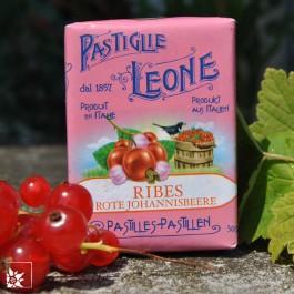 Pastiglie Leone Johannisbeere - köstliche glutenfreie Lutschpastillen aus Italien.
