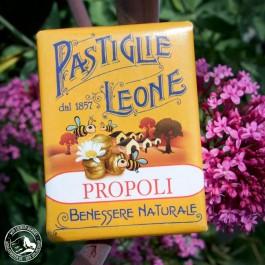 Pastiglie Leone Propoli in der fröhlich bunten 30 g Packung.