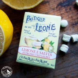 Pastiglie Leone Limone/Zitrone Salbei in der 30 g Packung.
