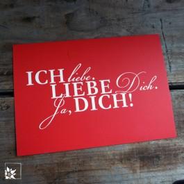 """Postkarte """"Ich liebe Dich"""" von Langelütje."""