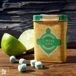 Retro Metallbox Limone von Pastiglie Leone. Glutenfreie Lutschpastillen.