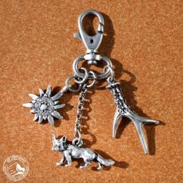 Schlüsselanhänger Fuchs (versilbert)