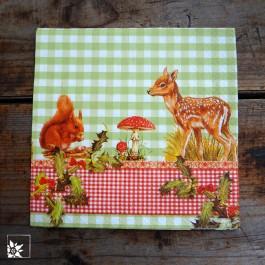 Papierserviette Alvin und Bambi - 33 x 33 cm groß.
