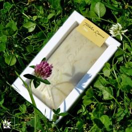 Tiroler Reine Seife mit Bergwiesenheu in der Verpackung. Lieferung ohne Wiese! :)