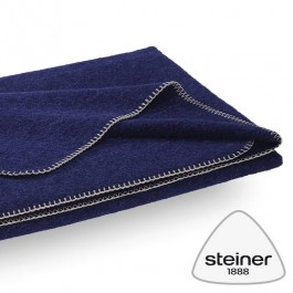 Steiner Wolldecke Alina - Farbe Heidelbeer