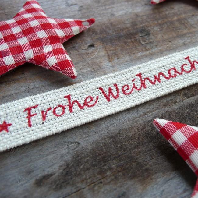 Geschenkband Frohe Weihnachten.Geschenkband Frohe Weihnachten Alpen Shop Wohlgeraten