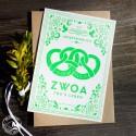 """Bayrische Hochzeitskarte """"Zwoa für's Leben"""" LP"""