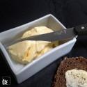 Raumgestalt, Porzellan-Butterdose, glasiert, 250 g