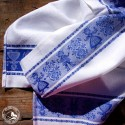 Vintage Geschirrtuch Tiroler Paar Blau