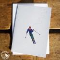 "Gmund Klappkarte ""Skifahrer"""