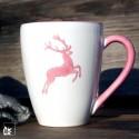 Gmundner Keramik Kaffeebecher Rosa Hirsch
