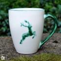 Gmundner Keramik Kaffeebecher Grüner Hirsch