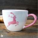 Gmundner Keramik Rosa Hirsch Teetasse Maxima 0,4l