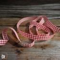 Geschenkband 25m Vichy Karo Rot/Weiß