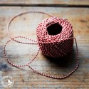 Kordel/Schnur Geschenkband Rot-Weiß 10m