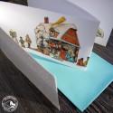 Weihnachtskarte Leporello  Böhmische Krippe zum Aufstellen