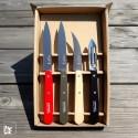 Opinel Küchen-Messerset Rot/Schwarz/Natur