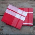 Schweizer Küchen- und Geschirrtuch Karo (groß) Rot
