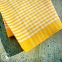 Schweizer Küchen- und Geschirrtuch Vichykaro Gelb