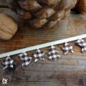 Weihnachts-Dekoration Minigirlande braun, 2,5 m