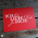 """Postkarte """"Ich liebe Dich"""""""