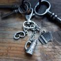 Schlüsselanhänger Wiesnglück – nickelfrei versilbert