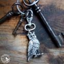 Schlüsselanhänger Eule | nickelfrei | versilbert