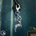 Schlüsselanhänger Hirsch | nickelfrei | versilbert