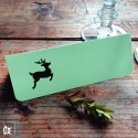 6 Tischkarten Hirsch Hellgrün