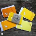 Mini Grusskartenset Reh 4x Gelb