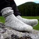 Steiner 1888 Socken 100% Bergschafwolle Stein