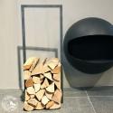 raumgestalt - Woodtower, Stahl, verzundert 100 x 40