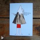 """Die Klappkarte """"Ich schnek Dir einen Berg"""" mit dem Motiv von Anne Trieba. Jede Karte kommt mit einem weißen Umschlag."""