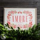 """Bayrische Grusskarte aus Bierfilz """"Amore"""" für immer"""
